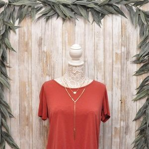 Tops - Casual Couture by Green Envelope Red Shirt NWOT